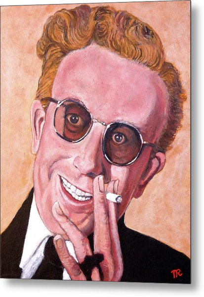 Metal Print featuring the painting Dr Strangelove  by Tom Roderick