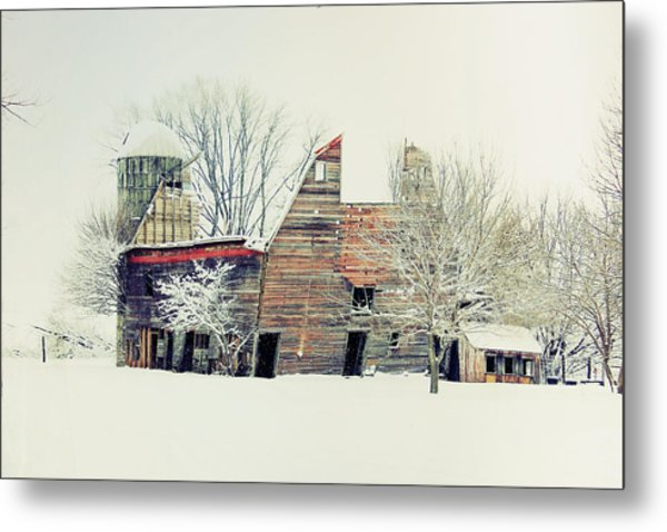 Drafty Old Barn Metal Print