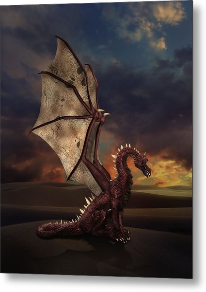 Dragon At Sunset Metal Print