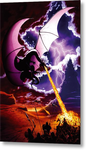 Dragon Attack Metal Print