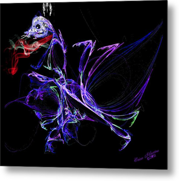 Dragon Dance Metal Print
