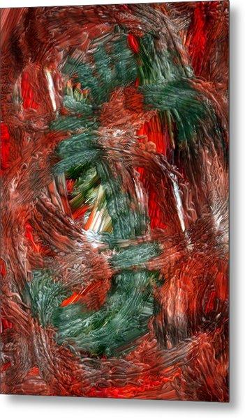 Dragon Fire Metal Print by Nancy TeWinkel Lauren
