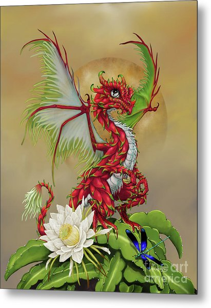 Dragon Fruit Dragon Metal Print