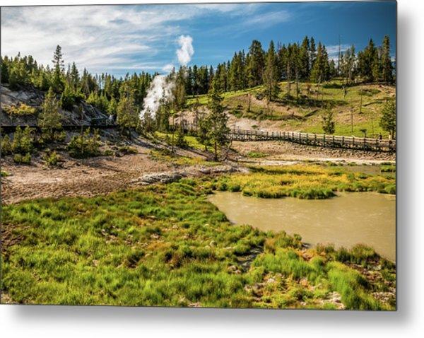 Dragon Geyser At Yellowstone Metal Print