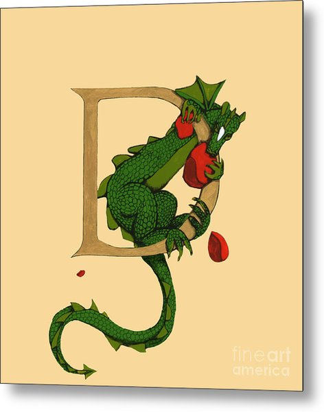 Dragon Letter D 2016 Metal Print