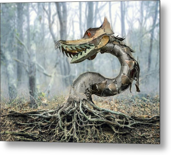 Dragon Root Metal Print