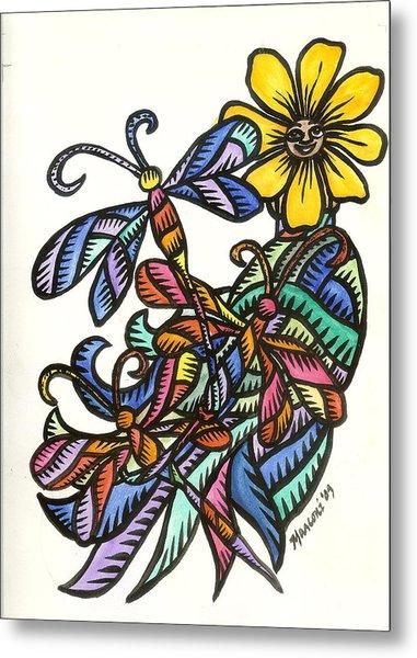 Dragonflies 2009 Metal Print