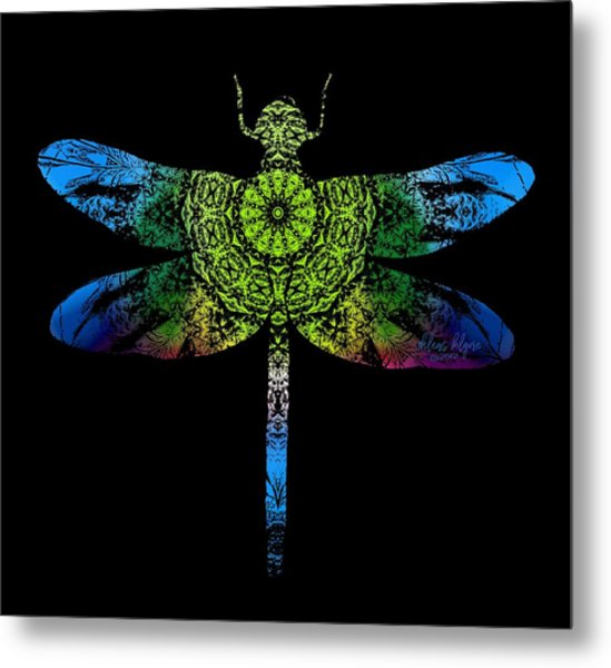 Dragonfly Kaleidoscope Metal Print