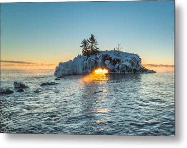 Dragon's Breath  // North Shore, Lake Superior Metal Print