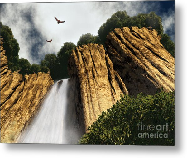 Dragons Den Canyon Metal Print