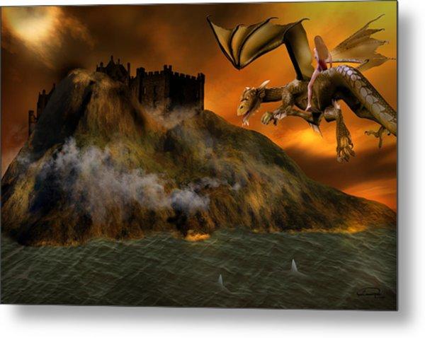 Dragons Return To Lost Island Metal Print by Emma Alvarez