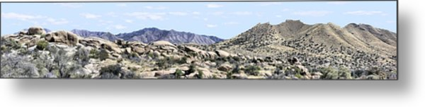 Dragoon Mountains Panorama Metal Print by Sharon Broucek