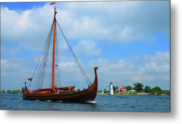 The Draken Passing Rock Island Metal Print