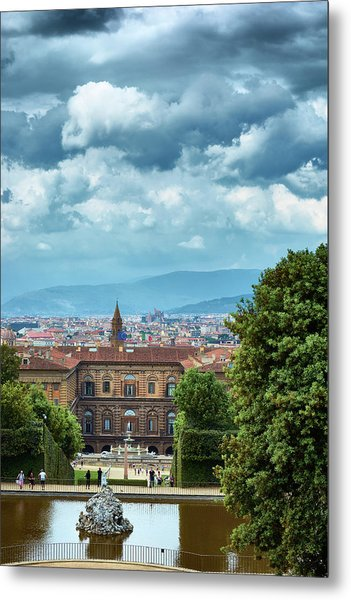 Drama In The Palace Of Firenze Metal Print