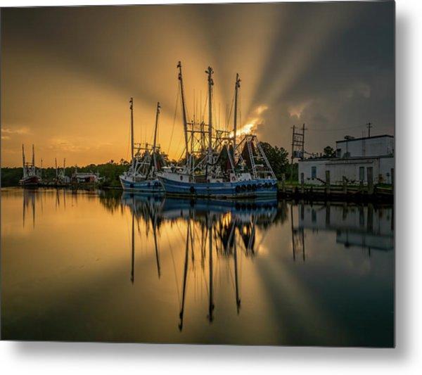 Dramatic Bayou Sunset Metal Print