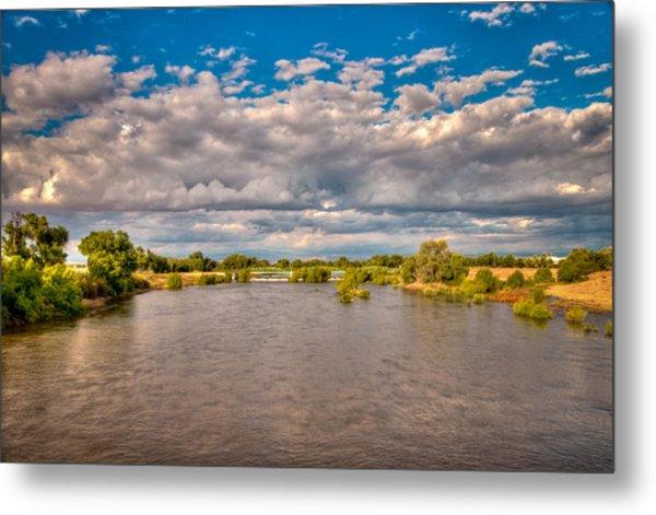 Dramatic Clouds And Kern River Metal Print