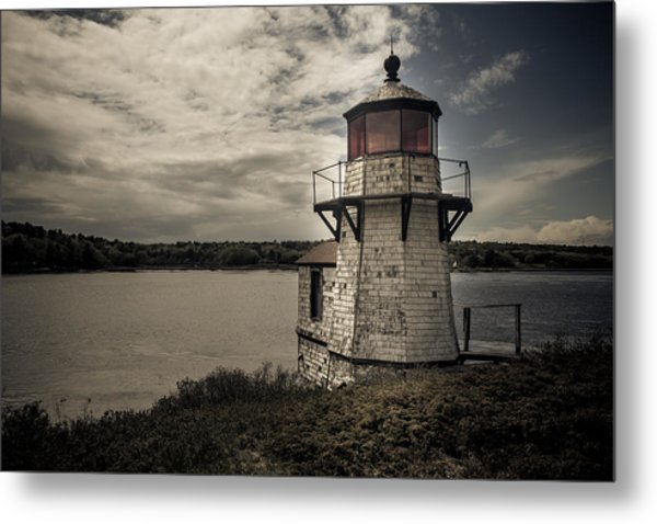 Dramatic Mid-day Shot Of Squirrel Point Metal Print