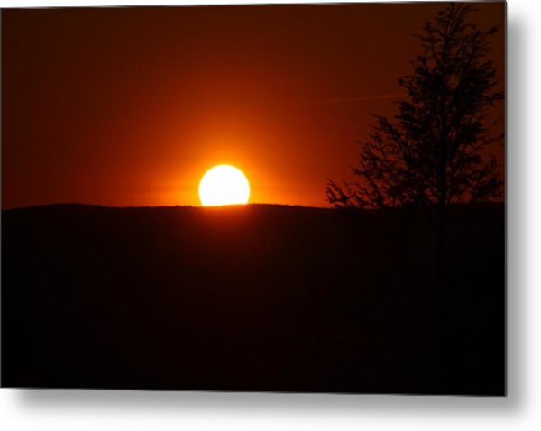 Dramatic Sunset View From Mount Tom Metal Print
