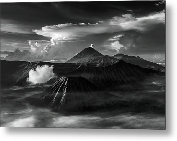 Metal Print featuring the photograph Dramatic View Of Mount Bromo by Pradeep Raja Prints