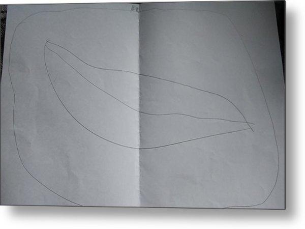 Drawing Metal Print