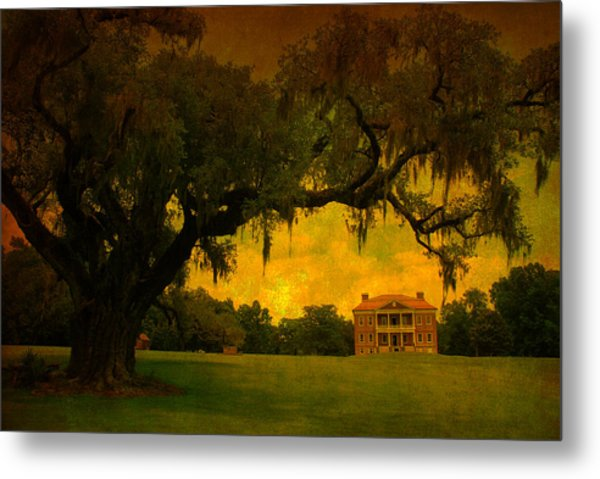 Drayton Hall Plantation In Charleston Metal Print