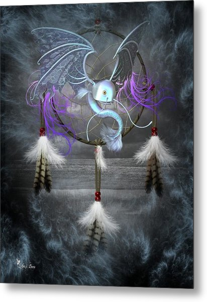 Dream Catcher Dragon Fish Metal Print