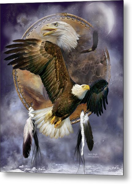 Dream Catcher - Spirit Eagle Metal Print