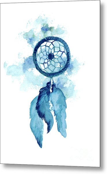 Dream Catcher Watercolor Art Print Painting Metal Print