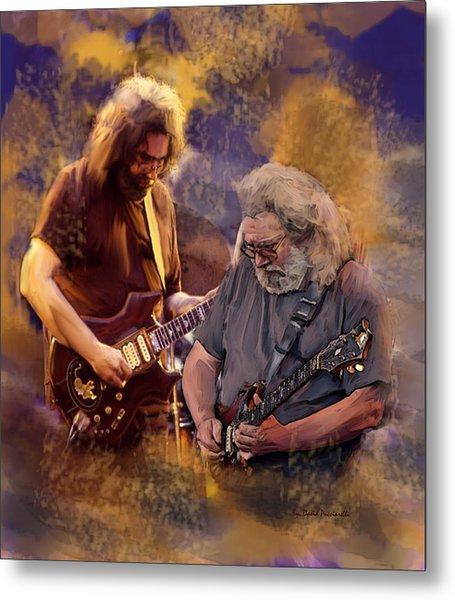 Dream Colors  Jerry Garcia Greatful Dead Metal Print