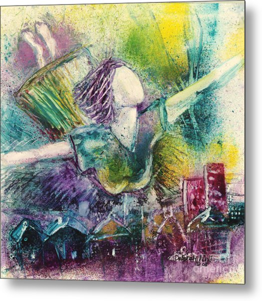 Metal Print featuring the painting Dream Come True by Deborah Nell
