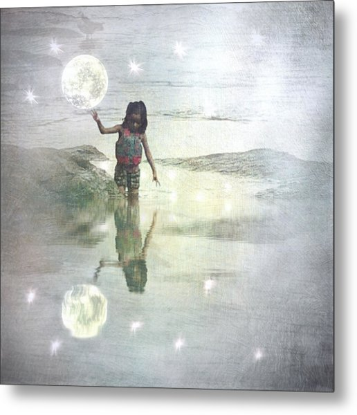To Touch The Moon Metal Print