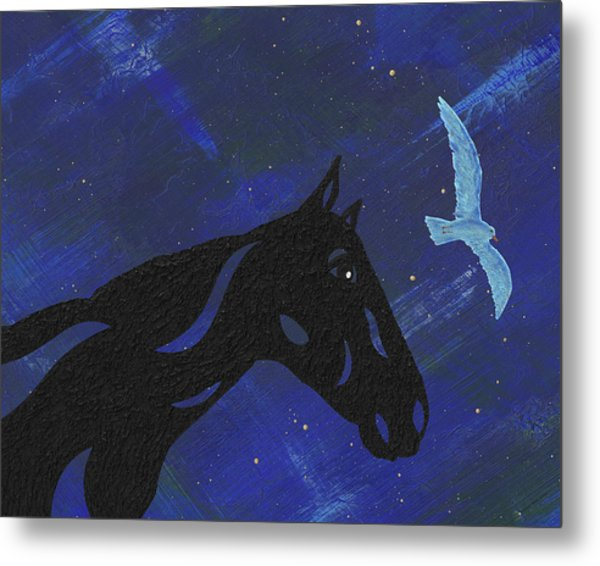 Dreaming Horse Metal Print