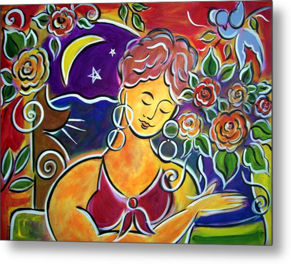 Dreaming Of My Garden In Mexico Metal Print