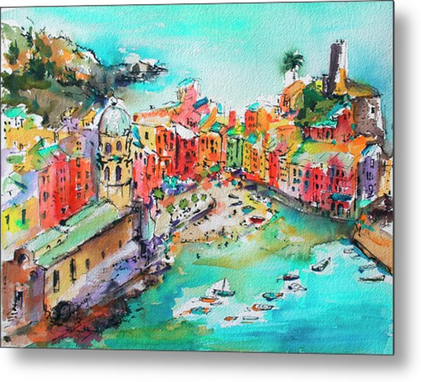 Dreaming Of Vernazza Cinque Terre Italy Metal Print