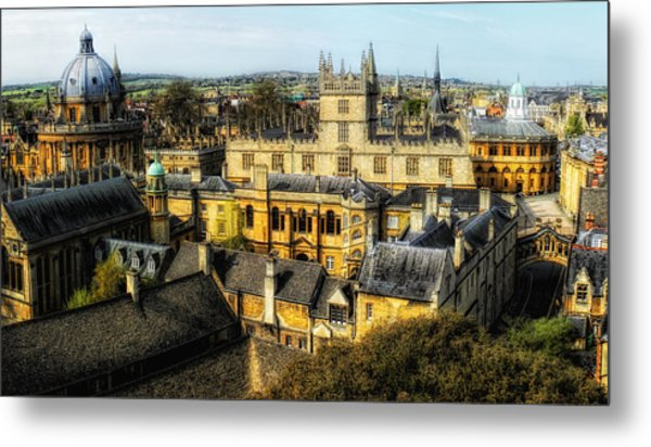 Metal Print featuring the photograph Dreaming Spires by Nigel Fletcher-Jones