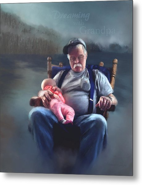 Dreaming With Grandpa Metal Print