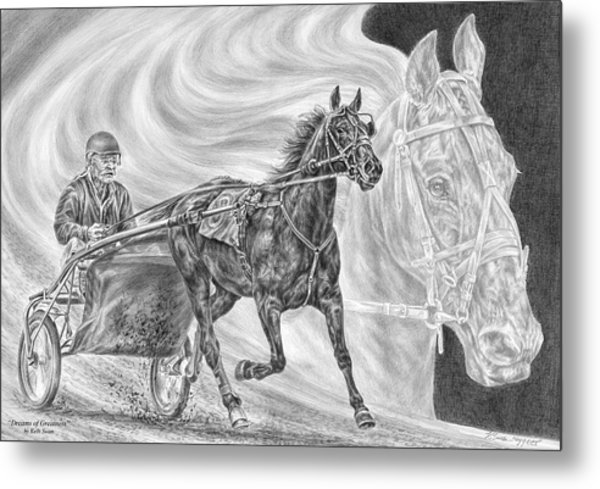 Dreams Of Greatness - Harness Racing Art Print Metal Print