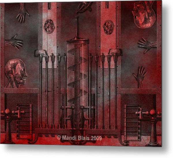 Dreamtime Of The Mechanism Metal Print by Mandi Blais