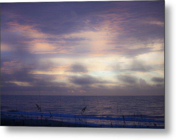 Dreamy Blue Atlantic Sunrise Metal Print