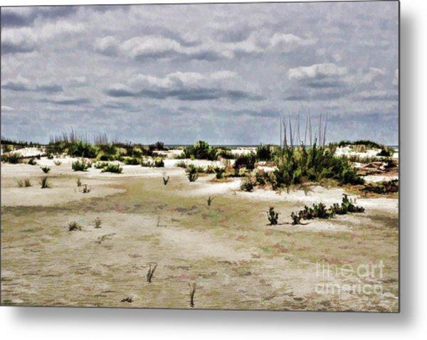 Dreamy Sand Dunes Metal Print