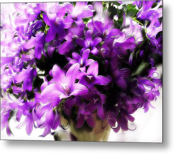 Dreamy Flowers Metal Print