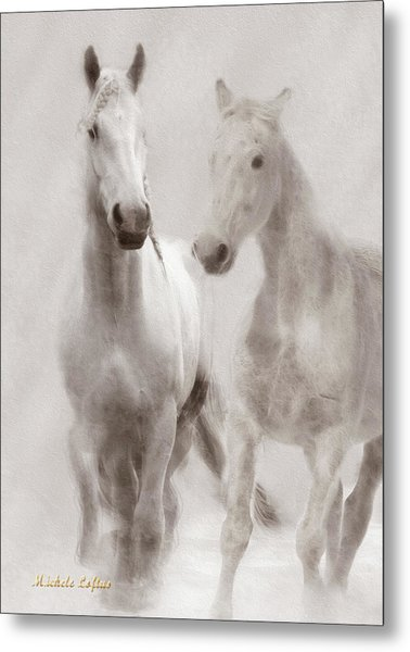 Dreamy Horses Metal Print