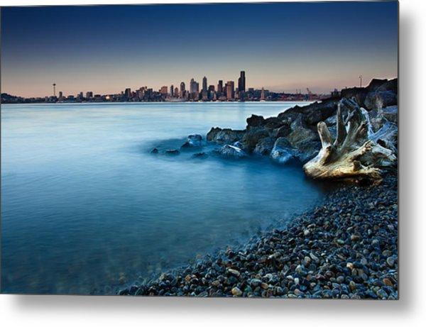 Dreamy Seattle Skyline Metal Print by Sanyam Sharma