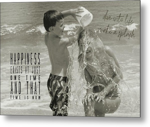 Drenched Quote Metal Print by JAMART Photography
