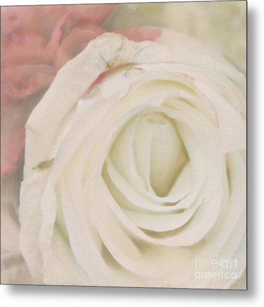 Dressed In White Satin Metal Print
