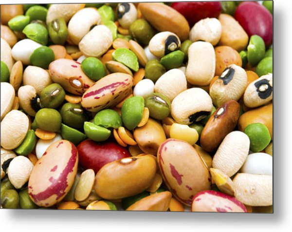 Dried Legumes And Cereals Metal Print