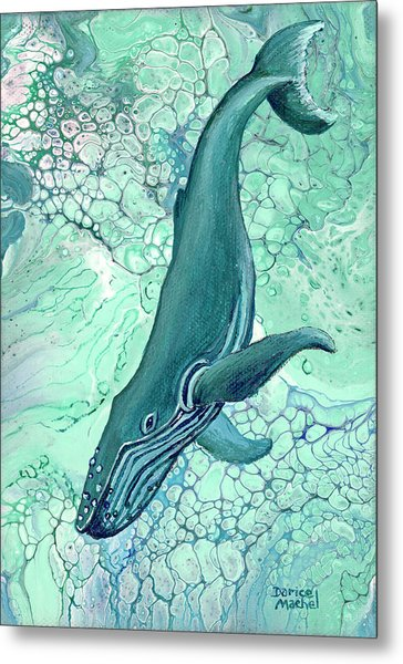 Metal Print featuring the painting Drifting Into Blue by Darice Machel McGuire