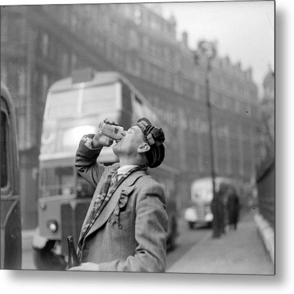 Drinking Beer Metal Print by John Drysdale