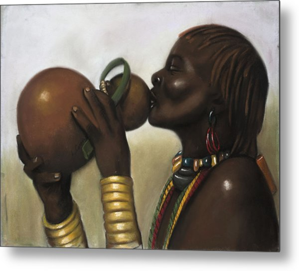 Drinking Gourd Metal Print by L Cooper