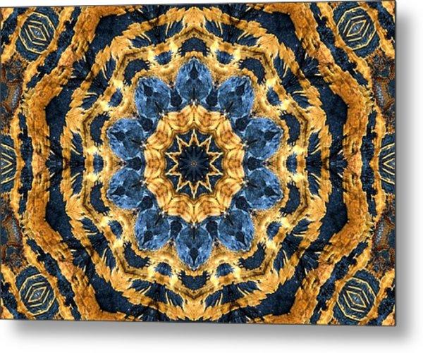 Dripping Gold Kaleidoscope Metal Print